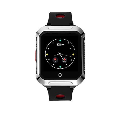 Intelligente Uhr im Alter, Überwachung der Herzfrequenz und des Blutdrucks, mehrstufiges Design, Sturzalarm des alten Mannes, Eltern geben das intimste Geschenk,Black