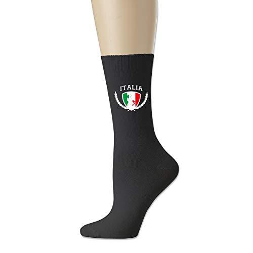 Unisex Italia Italy Italian Flag Cotton Crew Socks Casual Stocking For Men Women