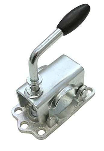 p4U Guss Klemmhalter Klemmschelle Stützradhalter verstärkt durch Gussplatte - Rohr Ø48mm für Stützrad Stütze Anhänger Trailer Caravan