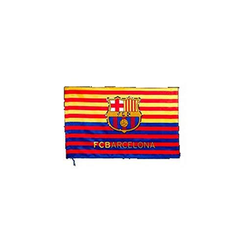 Drapeau Horizontale FC. Barcelona et Catalogne - Produit sus Licence - Mesure 150 x 90 cm.- 100% Polyester