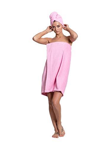 Turkuoise Frottee-Badetuch für Damen, aus türkischer Baumwolle, hergestellt in der...