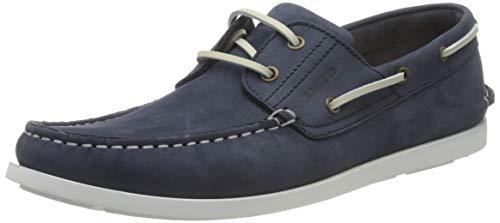 LLOYD Herren Bootsschuhe ELIGIO, Männer Bootsschuhe,VARIOFOOTBED, Boat-Shoe sportlich sommerschuh Leder Herren Maenner maskulin,Jeans,7 UK / 40.5 EU