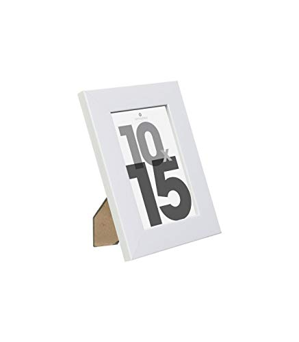 Cadre photo - 15 x 20 cm - Bois - Blanc
