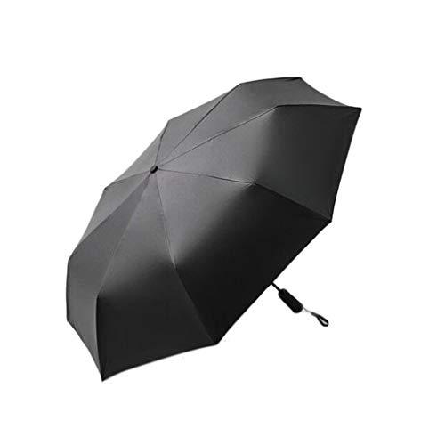 SANUMBRE Paraguas de Viaje Protector Solar Upf50 + Anti-UV Totalmente automático Disipación de Calor Plegada Ligero y portátil Interruptor de pulsador Mango Antideslizante (Color : Gray)