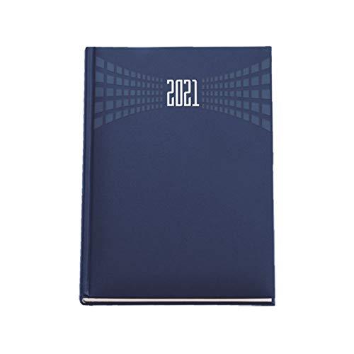 Agenda giornaliera 2021 Blu formato A4 21x30 centimetri sabato e domenica separati matra' appuntamenti