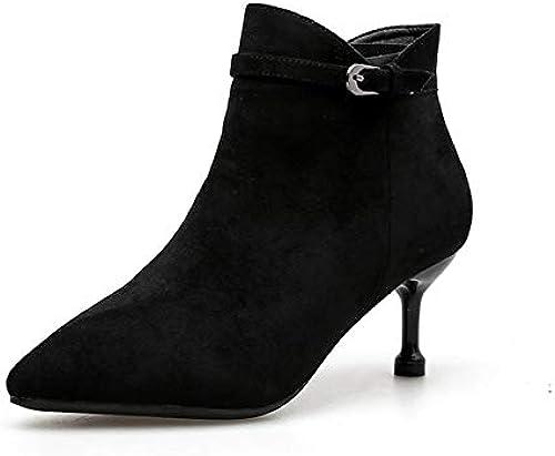 HOESCZS Frauen Frauen Frauen Schuhe Herbst Und Winter Warme Frauen Stiefel Stiletto Frauen Martin Stiefel Retro Frauen Stiefel  Online-Verkäufe