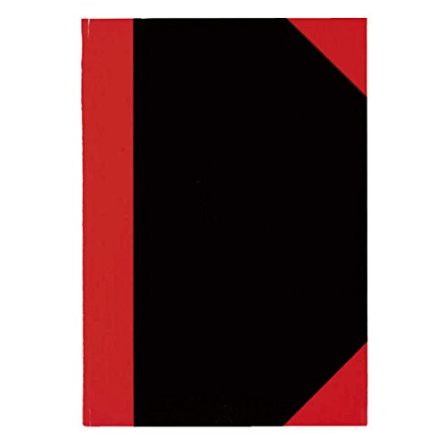 Stylex 29116 Taccuino, FORMATO A6, a quadretti, nero/rosso