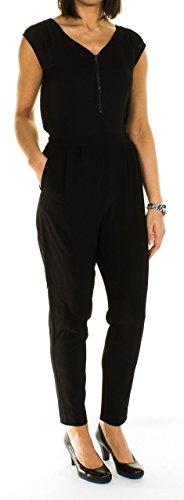 s.Oliver Damen 14.603.85.4627 Jumpsuits, Schwarz (Black 9999), W28 (Herstellergröße: 36)