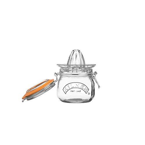 Kilner Glassware 2-Piece Juicer Jar Set, Make, Store and Serve Fresh Citrus Juice, Airtight Clip-top Lid, 17-Fluid Ounces