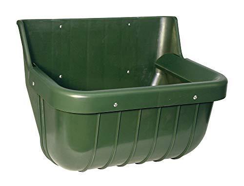 Kerbl Kunststoff-Futtertrog 15 l mit Auswurf-Schutzkante grün