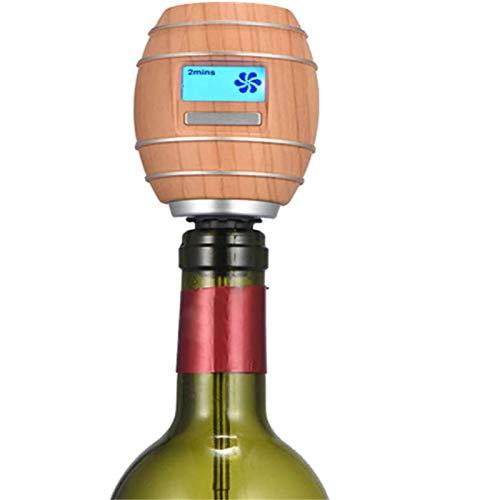 Smart Oxygen Decanter FAST SMART Decantador eléctrico LCD Pantalla LCD Decantador de vino eléctrico Aerador de oxígeno inteligente Barra de cocina Herramientas wood