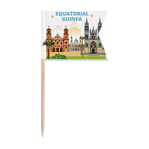 """Beauty Gift Castle Ã""""quatorial Guinea Art Deco Geschenke Mode Markierung für die Kennzeichnung von Zahnstocher-Flaggen"""