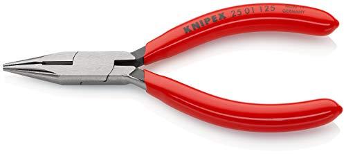 KNIPEX 25 01 125 Mechanicetang - met halfronde snap met verstekzaag (radiotang voor radioapparaten), zwart gecoat met kunstharsmantel 125 mm