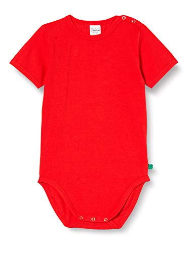 Fred's World by Green Cotton Baby-Girls Alfa s/s Body and Toddler Sleepers, Traffic red, 86