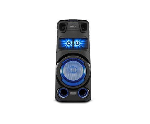Sony MHC-V73D - Altoparlante Bluetooth All in One con JET BASS BOOSTER, Effetti Luminosi, Lettore CD, USB, Nero