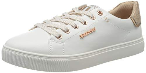 Dockers by Gerli Women's Low-Top Sneakers, Weiss Rosegold, Women 2
