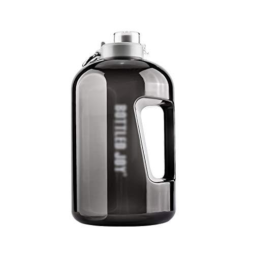 Bottle Sport, 3.78L Large Sports Bottle, BPA Free Water Bottle for Fitness Gym Home Office Outdoor, Transparent X (Color : Black)