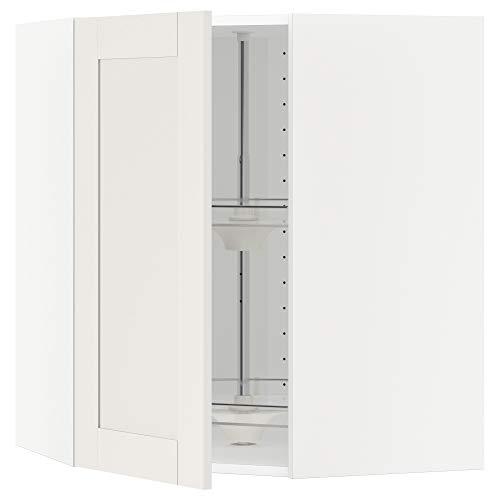 METOD armario esquinero de pared con carrusel 67,5x67,5x80 cm blanco/Sävedal