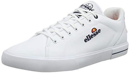 ellesse Herren Taggia Sneaker, Weiß (White/Dark Blue Wht/Dk Blu), 44.5 EU