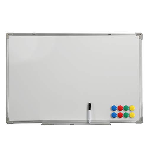 Whiteboard Magnettafel Memoboard Pinnwand 90x60cm Aluminiumrahmen magnetisch büroMi®