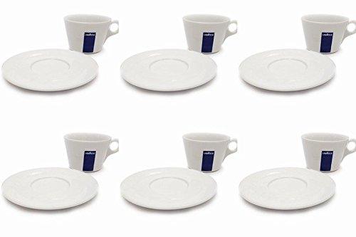 6 X Lavazza Cappuccino / Café / Americano / Coupes Porcelaine et soucoupes des capacités cc 300, hauteur 78 mm
