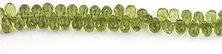 Jewel Beads Natural Beautiful jewellery Big Halloween Sale 1 Strand Peridot Gemstone Faceted Briolettes - Peridot Tear drop Beads 7mmx5mm 9 Inches SB876Code:- JBB-11206