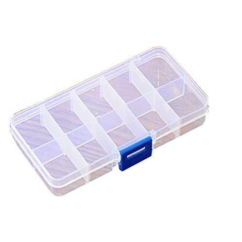 mxjeeio Plastikschachtel in 3 Größen Sortierbox Plastik Box für Aufbewahrung Kompakte Tablettenbox, Pillenbox,Schmuckschatulle