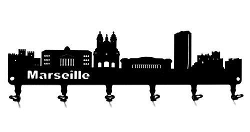 Skyline di Roma linea dellorizzonte roma portachiavi italia-- pannello portachiavi Ganci portachiavi nero 6 gancio