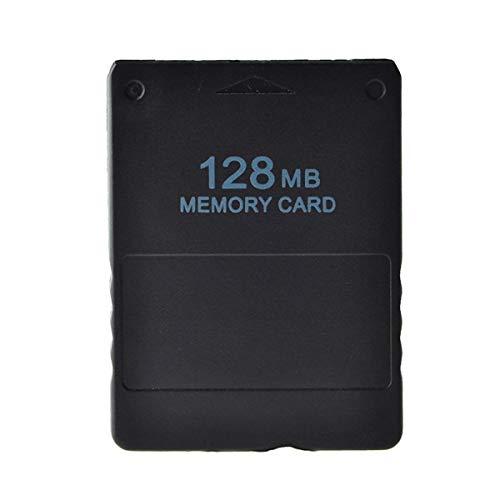 EisEyen Urisgo 128MB Memory Card Speicherkarte Speicher für Sony Playstation 2 PS2, Schwarz
