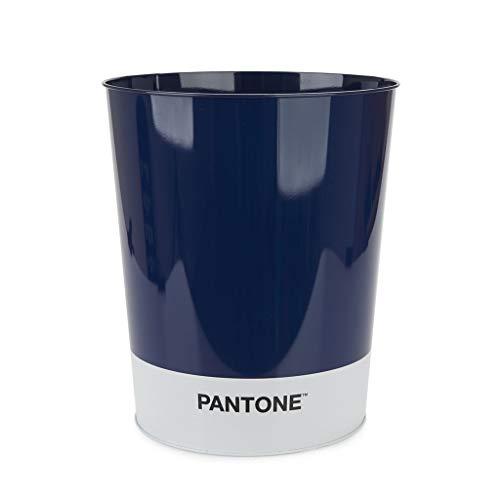 Balvi Corbeille à Papier Pantone Couleur Bleu Corbeille de Recyclage pour Le Bureau et la Maison Articles de Papeterie au Design Moderne et Minimaliste Étain 26x22x22 cm