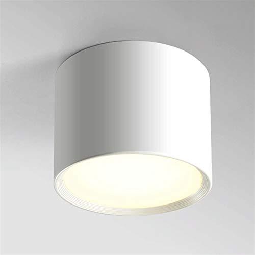 12W Techo Spotlight Luz interior LED Downlight COB Luminaria Moda Moda CRI85 Manchas Lámpara montada en la superficie para la sala de estar de la sala de estar Oficina de cocina [Clase de energía A ++