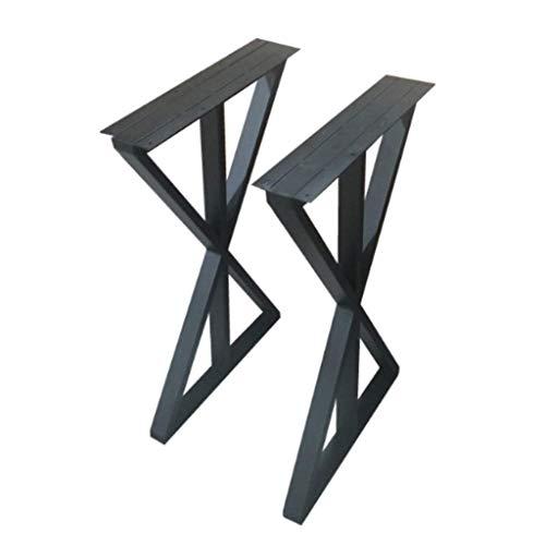 Pies de muebles negros patas de mesa de hierro forjado / armazón...