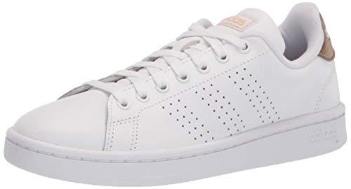adidas Zapatillas Advantage para mujer, (Blanco/Blanco/Metálico Cobre), 40 EU