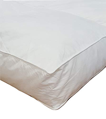 Millsave Premium Hotel Quality 5' Queen (60' x 80') White Goose Down & Feather Mattress Topper...