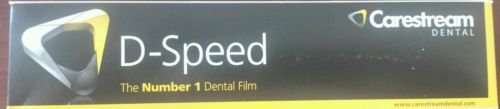 Dental Kodak Intraoral D-Speed 100 X-ray Films Carestream DF-58 Adult Size 2
