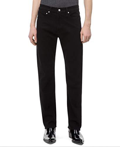 Calvin Klein Men's Straight Fit Jeans, Forever Black, 30x30
