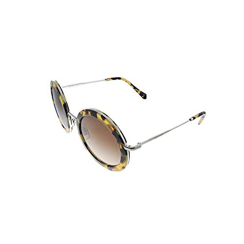miu miu 0MU 59US Occhiali, Blonde Havana/Brown Shaded, 48 Donna