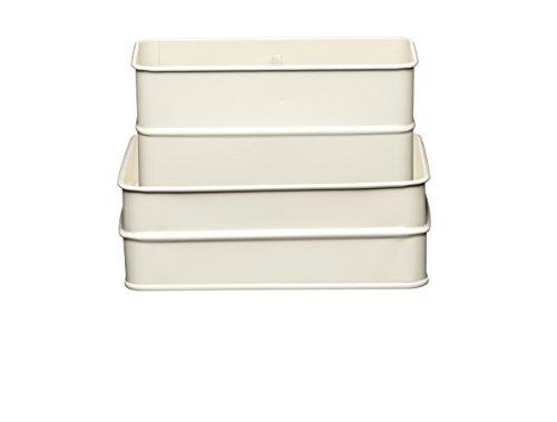 KitchenCraft Living Nostalgia Küchenspülbeckenbehälter, 17 x 14 x 11 cm, weiß (Antique Cream)