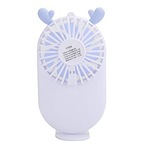 Ventilador de mano Portátil, mini ventilador de mano Ventilador de bolsillo USB Ventilador lindo, Ventilador de mesa de escritorio personal de 3 velocidades con carga USB, Ventilador de pestañas de ma