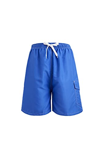 Men's Swim Trunks Quick Dry Beach Shorts with Pockets, Bathing Suits with Inner Mesh Lining,Solid Royal Blue Large
