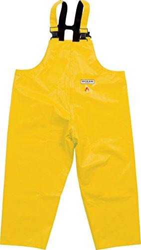 Ocean Classic Latzhose - Ölzeughose aus PVC auf Baumwollträger. DAS Ölzeug für den Profi (7XL, gelb)