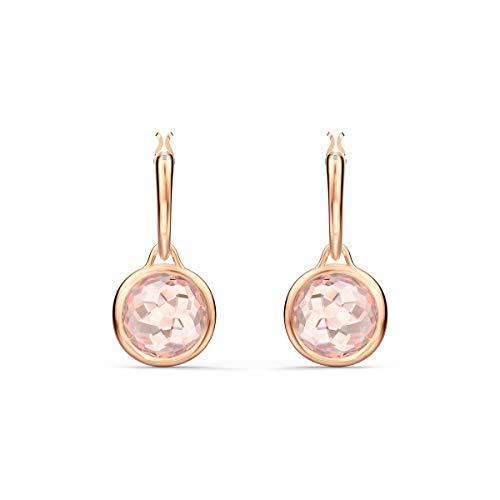 Swarovski Pendientes de aro Tahlia Mini, rosa, baño tono oro rosa