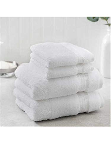 New Charisma Soft 100% Hygro Cotton 4-Piece Hand & Washcloth Towel Set (One Size, White)