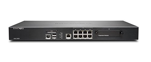 SonicWall NSA 2600 cortafuegos (hardware) 1900 Mbit/s 1U - cortafuegos (hardware) (1900 Mbit/s, 1100 Mbit/s, 700 Mbit/s, 800 MHz, FCC Class A, ICES Class A, CE (EMC, LVD, RoHS), C-Tick, VCCI Class A, MSIP/KCC Class A, UL, cUL,..., 128-bit AES,192-bit AES,256-bit AES,3DES,MD5,SHA-1)