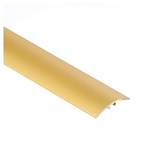 Aluminium-Türschwelle, Übergangsprofil, Schutzleiste, Übergangsschiene mit Befestigungsstifte, 30 x 900 mm Gold – CEZAR