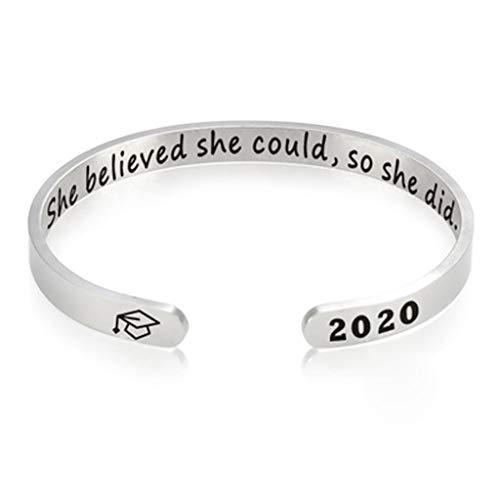 Janly Clearance Sale Pulsera para el verano de 2020, regalo de graduación escolar, pulsera de la amistad, regalo (Talla única)