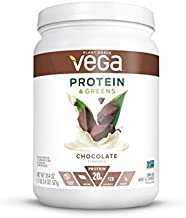 Vega Protein and Greens, Chocolate, Plant Based Protein Powder Plus Veggies - Vegan Protein Powder, Keto-Friendly, Vegetarian, Gluten Free, Soy Free, Dairy Free, Lactose Free (16 Servings, 1lb 2.4 oz)