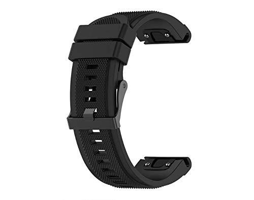 Pulseira de Silicone Preta Adulto Para Relógio Smartwatch Garmin Forerunner 935