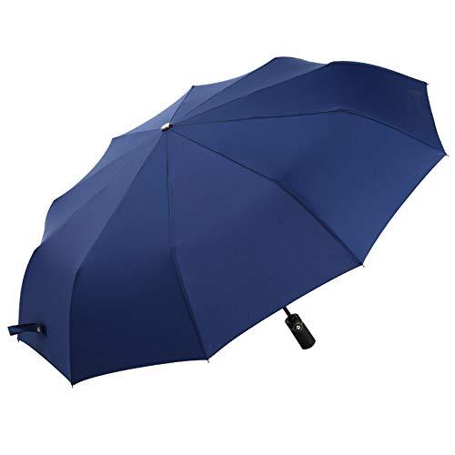 XIEPEI Zehn Knochen Automatische Regenschirm Geschäft Anti-Splash-Regenschirm Regen Taschenschirm Blau 23in
