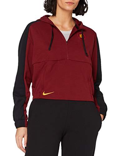 NIKE Roma W NK Dry Hoodie Po Sweatshirt, Mujer, Team Red/Black/University Gold no Sponsor, M